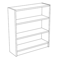 Benchmark Shelving Line Art
