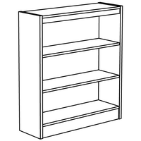 Bookmark Shelving Line Art