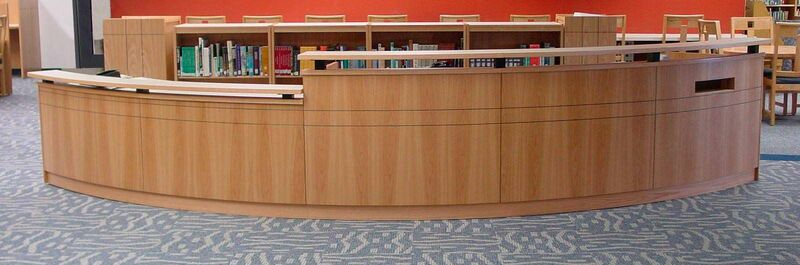 mediatechnologies Products:Modular Circulation Desks