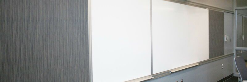 mediatechnologies Products:Track Mounted Visual Display Boards