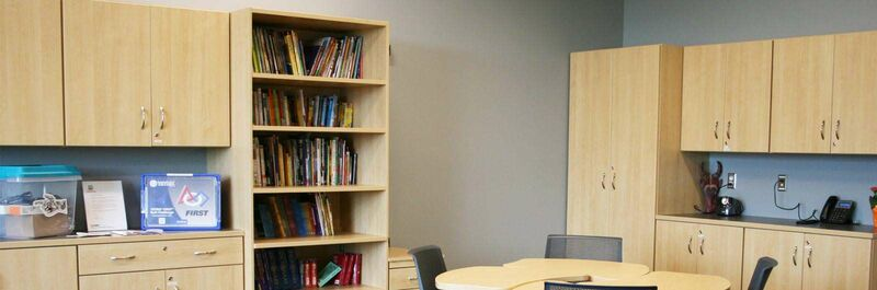 mediatechnologies Products:Track-Mounted Shelving