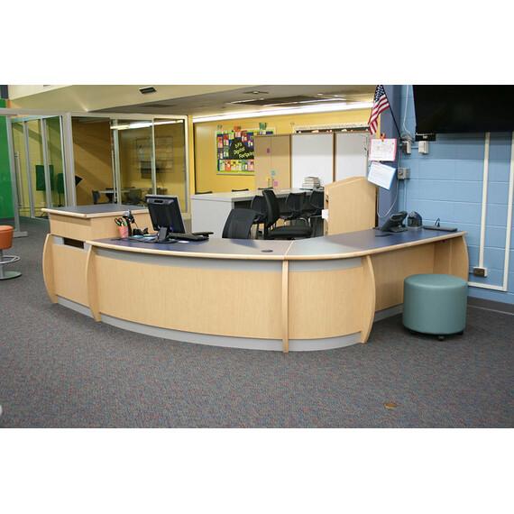 Malibu Maplebrook Circulation Desk - mediatechnologies
