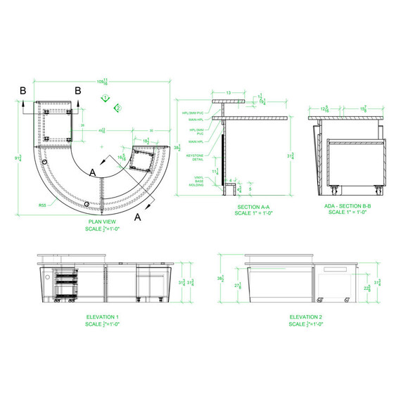 Keystone Morton Grove Desks - mediatechnologies