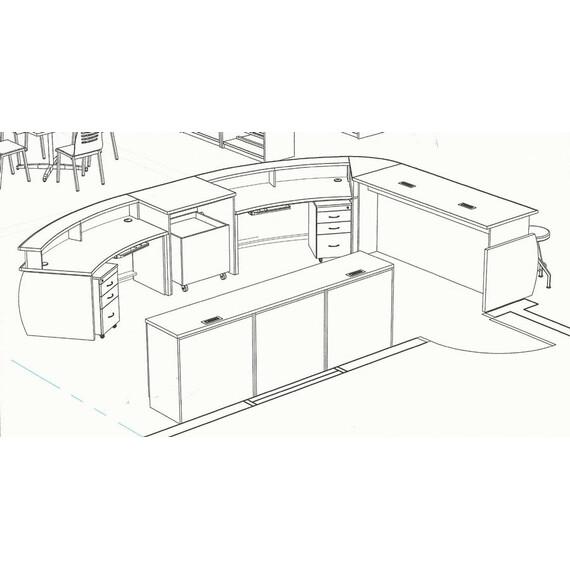 Malibu Madison Circulation Desk - mediatechnologies
