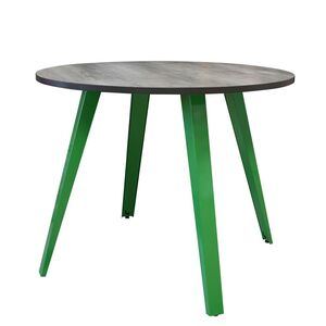 Zip Table Weathered Beamwood Lime Green