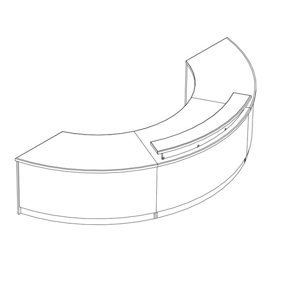 Spring Hill Curved Circulation Desk Kit - mediatechnologies